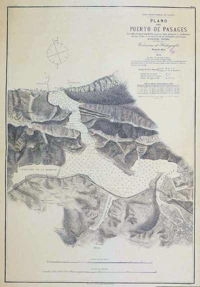 Plano del puerto de Pasajes. H. 20A [Material cartográfico] :]formado con presencia de los mejores datos antiguos y modernos