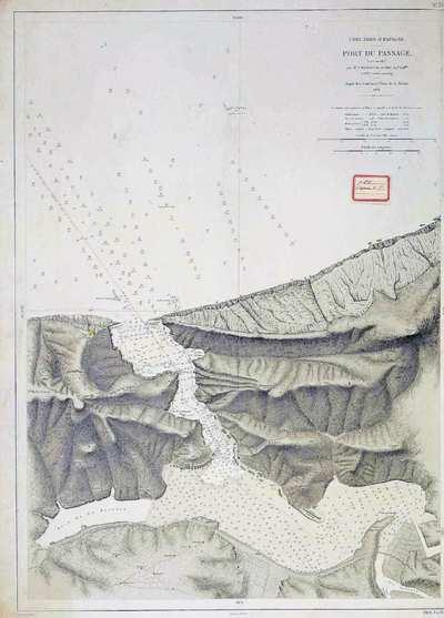 Côte Nord d'Espagne [Material cartográfico] : Port du Passage levé en 1867
