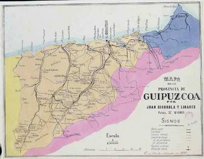 Mapa de la provincia de Guipuzcoa [Material cartográfico]
