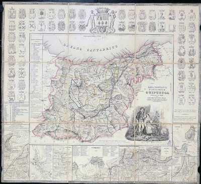 Carta topografica de la M.N. y M.L. provincia de Guipuzcoa dedicada a la misma por D. Jose Joaquín de Olazabal Arbelaiz y presentada en las Juntas generales que celebró esta Provincia el año 1849 en la M.N. M.L. M.V. y M.S.F. ciudad de Fuenterrabia [Material cartográfico]