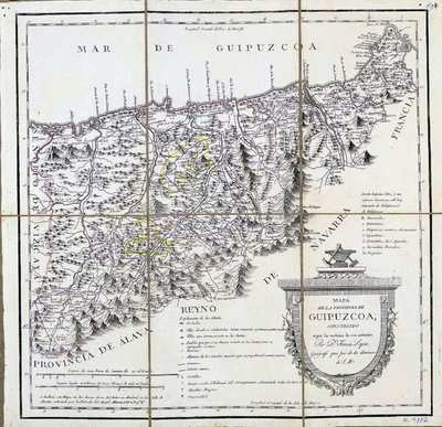 Mapa de la Provincia de Guipuzcoa, construido según las noticias de sus naturales [Material cartográfico]