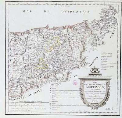 Mapa de la M.N. y M.L. Provincia de Guipuzcoa,