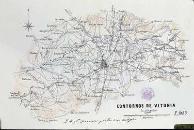 Contornos de Vitoria [Material cartográfico]