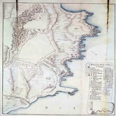 [Tarragona [Material cartográfico] : Planta de la ciudad y fortificaciones