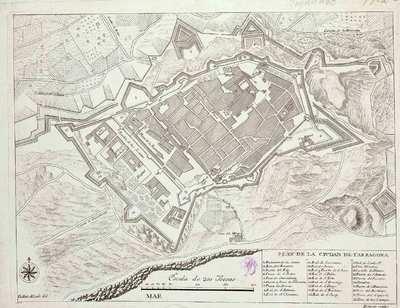 Plan de la ciudad de Tarragona [Material cartográfico]