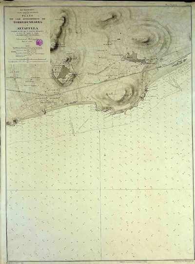 Plano de los surgideros de Torredembarra y Altafulla. H. 100a