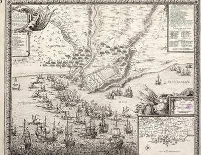 Plan de la Ville et Molle de Taragone en Catalogne assiegè par larmée du Roy tres Chrestien Louis 14, commandèe par le Maral. de la Motte, et le Duc de Brezè Admiral le 22e Octobre en 1644 [Material cartográfico]