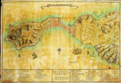 Plano de la Plaza de Ceuta [Material cartográfico] : Dedicado al Exmo. Señor Conde de Floridablanca por mano del Sr. Dn. Josef de Guevara Vasconzs.