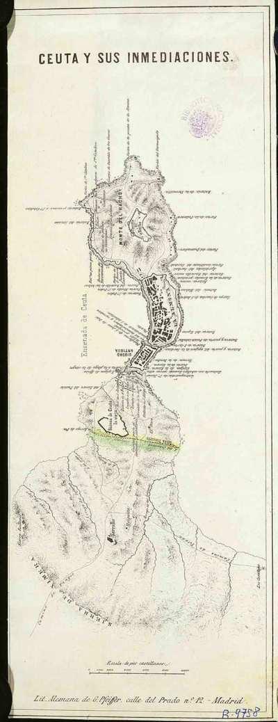 Ceuta y sus inmediaciones [Material cartográfico]
