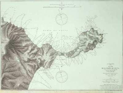 Plano de la Bahía de Ceuta [Material cartográfico] : Mar Mediterráneo : Africa