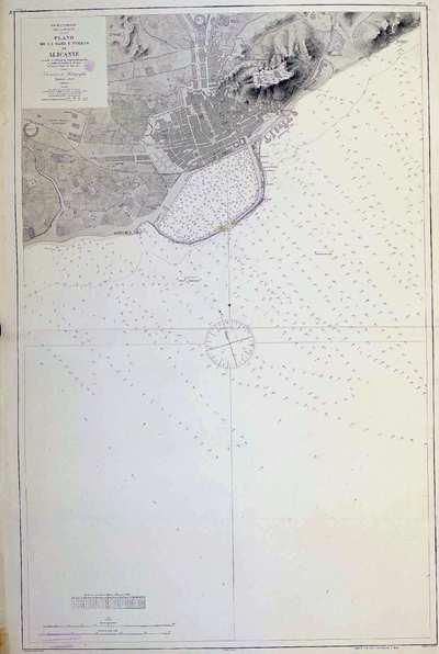 Plano de la rada y puerto de Alicante. H. 286A [Material cartográfico]