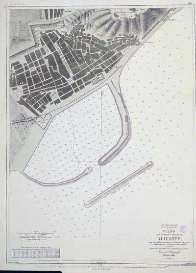 Plano del puerto y ciudad de Alicante. H. 286 [Material cartográfico]