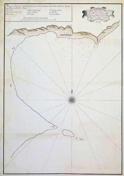 Plano del Puerto de Alicante situado en el Mar Mediterraneo en la Costa del Sur de España [Material cartográfico] : En la Latitud de 36º 58' Norte