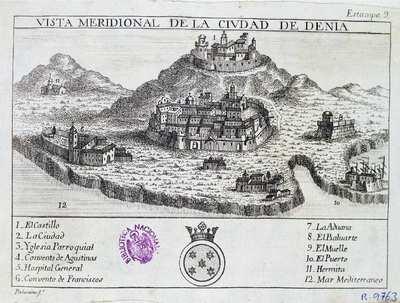 Vista meridional de la ciudad de Denia [Material cartográfico]