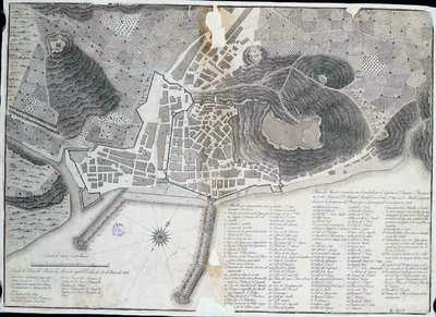 Plano de Alicante e inmediaciones levantado por el Capitan de Fragata e Yngeniero en 2º de Marina Dn. Manuel Mirallas en el año 1794 con los Muelles proyectados para la formación del Puerto que se aprincipiado a construyr en 1803 [Material cartográfico]