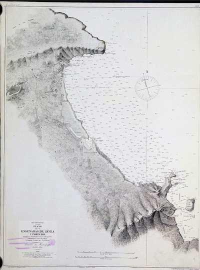 Plano de las ensenadas de Jávea y Portichol. H. 292A [Material cartográfico]