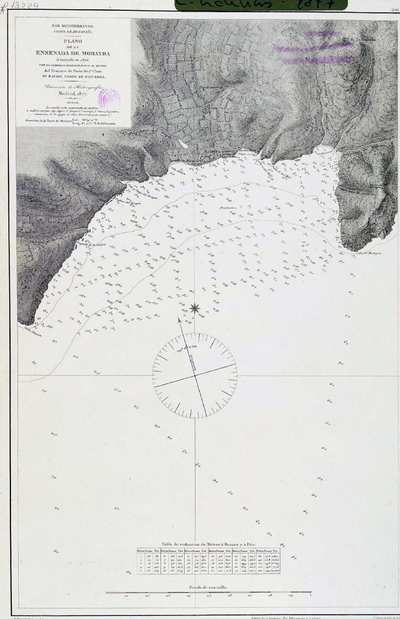 Plano de la ensenada de Morayra. H. 291A [Material cartográfico]