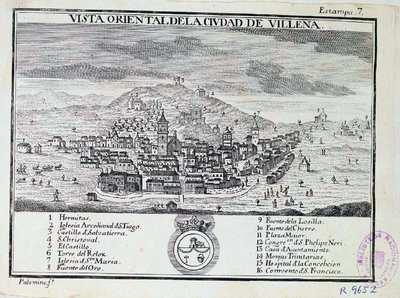 Vista oriental de la ciudad de Villena [Material cartográfico]
