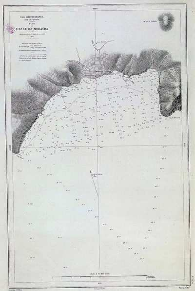 Mer Méditerranée. N. 3636 [Material cartográfico] : côte S.E. D'Espagne : Plan de l'Anse de Morayra