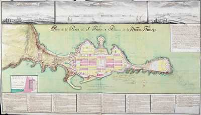 Plano de la Plaza de S. Pablo y Población de Nueva Tabarca [Material cartográfico]