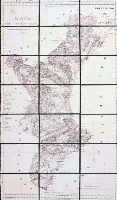 Mapa del Reyno de Valencia [Material cartográfico]