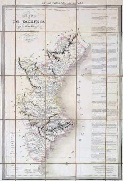 Reyno de Valencia [Material cartográfico] : con las nuevas divisiones