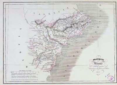 Provincia de Alicante [Material cartográfico] : parte de Valencia