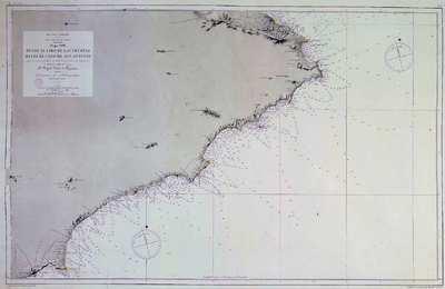 Desde el cabo de las Huertas hasta el cabo de San Antonio. H. 833 :Mar Mediterráneo : Costa Sueste de España : Hoja VIII