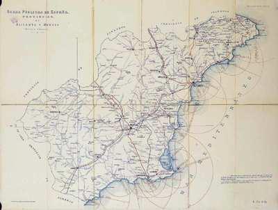 Obras Públicas de España [Material cartográfico] : Provincias de Alicante y Murcia