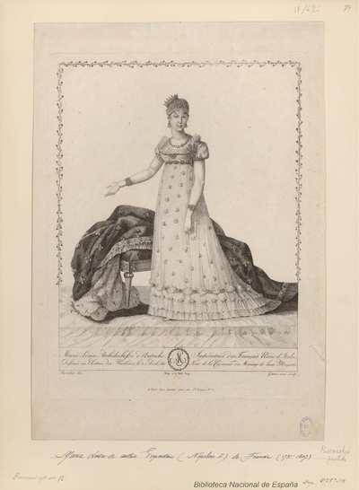 Marie Louise Archiduchesse d'Autriche, Impératrice des Français Reine d'Italie