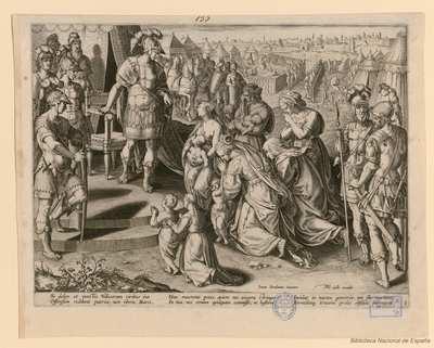 [Mujeres romanas implorando ante Coriolano]