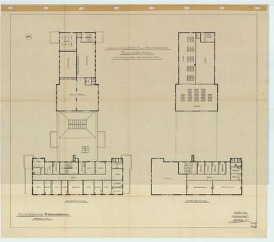 Bouwtekening revisie. 1e verdieping en zolderverdieping