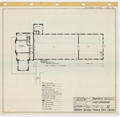 Technische tekening. Instructieblad noodverlichting en vluchtwegen