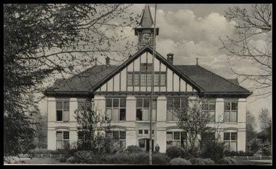 Gezicht op het directiegebouw van de Willem Arntsz-Hoeve (Dolderseweg 164).