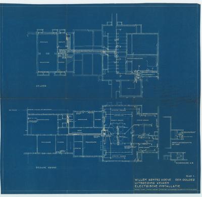 Technische tekening. Uitbreiding keuken met indeling