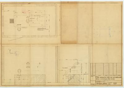 Technische tekening. Enkele belangrijke maten voor pompinstallatie