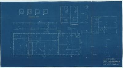 Bouwtekening. Fabriek verdiepingen toren voor juli 1935