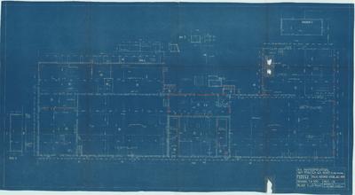 Bouwtekening. Fabriek beganegrond voor juli 1935