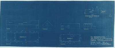 Bouwtekening. Bijgebouwen voor juli 1935