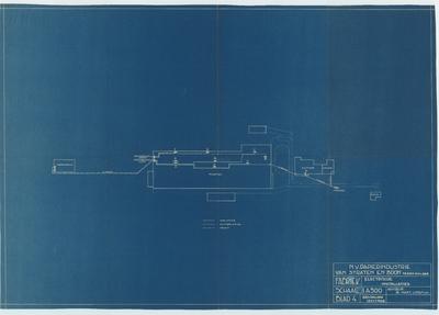 Technische tekening. Fabriek en kantoor electrische leidingen