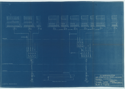 Technische tekening. Fabriek electrische installaties