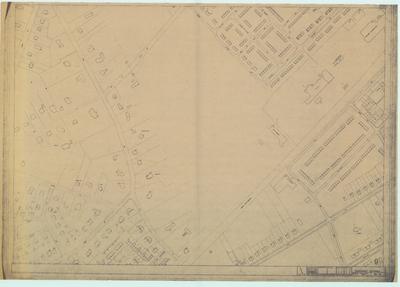 Terreintekening Den Dolder. Ligging gebouwen met huisnummer aanduiding/ blad 9