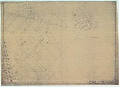 Terreintekening Den Dolder. Ligging gebouwen met huisnummer aanduiding/ blad 11
