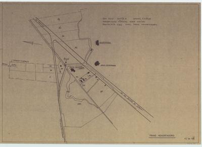 Terreintekening Prins Hendriksoord. Wijziging provincialeweg nabij Prins Hendriksoord
