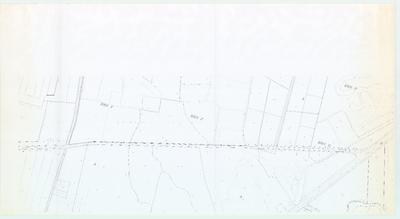 Terreintekening Den Dolder. Gemeentegrens Baarn/ Zeist nabij Embrachtchementsweg