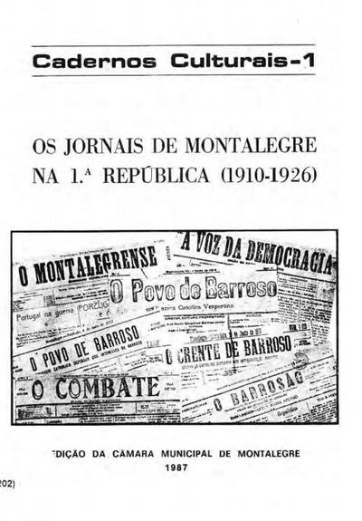 Os jornais de Montalegre na 1ª República (1910-1926)