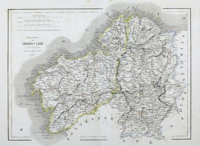 Provincias de Coruña y Lugo [Material cartográfico] ]: parte de Galicia