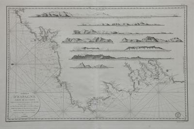 Côtes d'Espagne [Material cartográfico]: Partie de la Galice depuis le Cap Ortegal jusqu'au Cap Silleiro