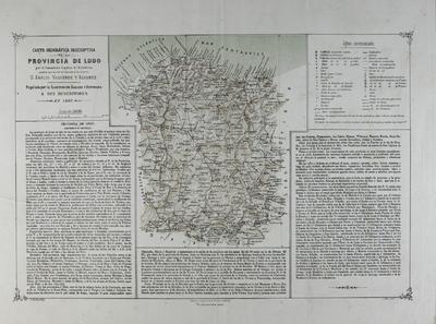Carta geográfica descriptiva de la Provincia de Lugo [Material cartográfico] ]