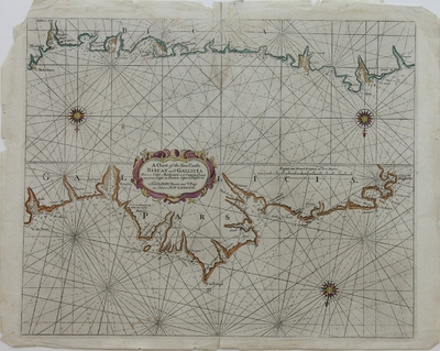 A Chart of the Sea Coasts Biscay and Gallicia Between Cape de Machicaca and Cape de Pinas and from Cape de Pinas to Cape de Finisterre [Material cartográfico]